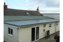 Fibreglass flat roof at the Bush Inn Robeston Wathen Near Narberth