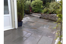 New Patio at rear of house - Tavenspite