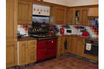 Fitted kitchen and tiled floor St. Davids