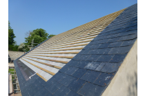 New pitched roof ready to fit solar panels - Narberth
