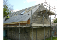 Partly slated roof with Velux windows fitted - Llawhaden